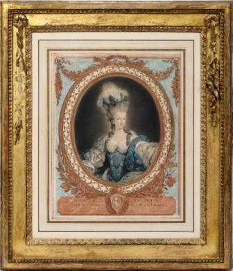 marie antoinette dautriche by jean françois janinet