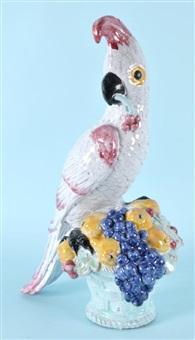 kakadu mit kirschen nymphenburg by josef wackerle