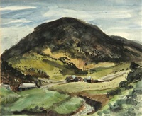 farm beside a hill by manuel acosta