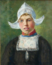 a portrait of a dutch girl by oscar miller