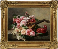 still life of roses by georges jeannin