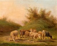 landschaft mit kleinvieh by germain postelle