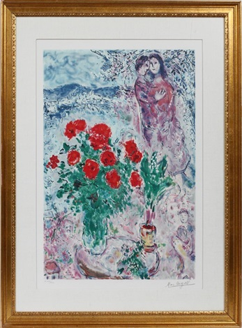 enchanted bouquet by marc chagall