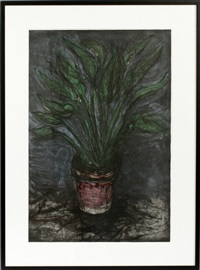 a well painting strelitzia by jim dine