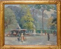 garden scene by a. maestro valerio
