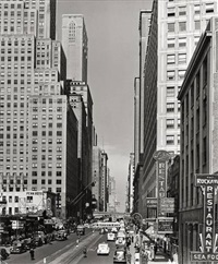n.y. - 42nd st. looking west from 3rd ave. el. sta by andreas feininger