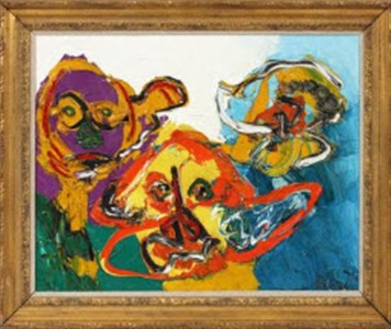 3 heads by karel appel