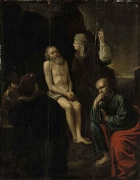 job derided by his wife and friends for refusing to give up his faith by willem de poorter