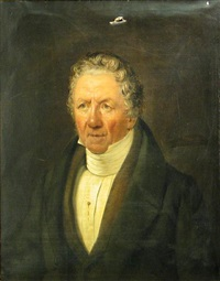 a portrait of zacharias ofverberg, half-length by carl petter mazer