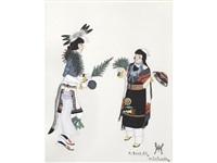 depicting a pueblo ceremonial by tonita pena