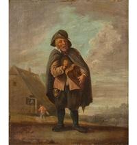 holländische landschaft mit drehleierspieler by david teniers the younger