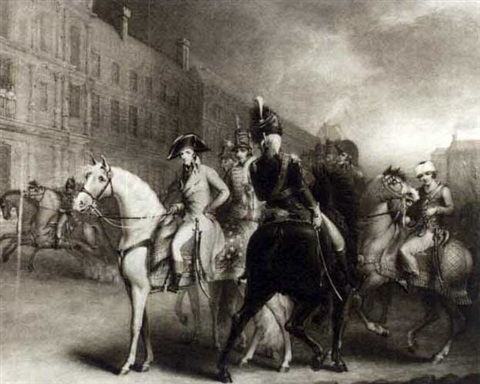 Bonaparte reviewing the Consular Guards by John James
