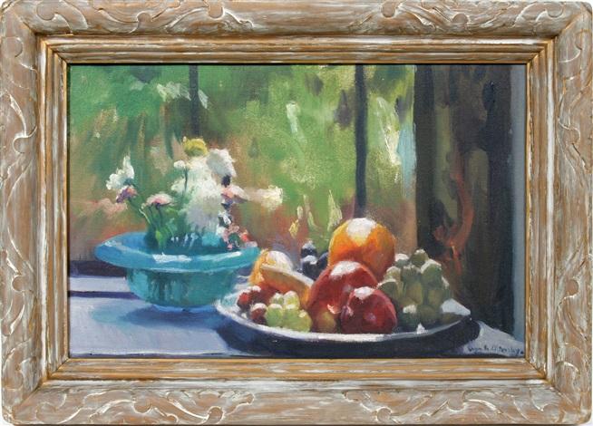 fruit still life russianamerican by ivan g olinsky