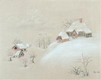 gehöfte im winter by ivan generalic