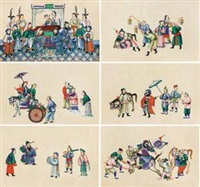 甘露寺 (六幅一组) (set of 6) by anonymous-chinese (qing dynasty)
