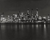 downtown manhattan seen from governors island by andreas feininger