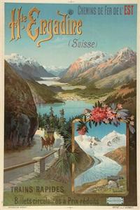 chemins de fer de l'est, hte-engadine (suisse) by frederic hugo d' alesi