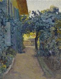 jardin avec maison by jacques jacobi