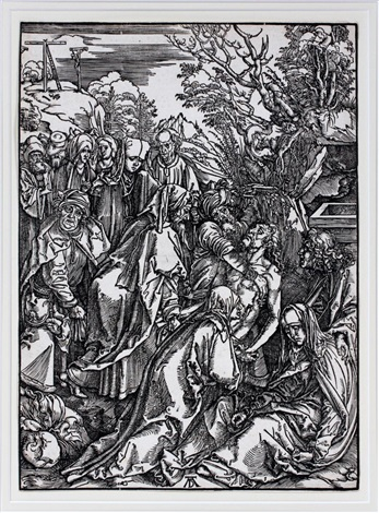 the deposition from the large passion by albrecht dürer