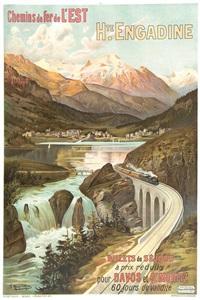 chemins de fer de l'est, hte. engadine, billets de séjour pour davos et st. moritz by frederic hugo d' alesi