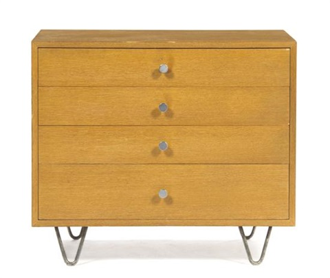 an american chest of drawers with vanity by george nelson