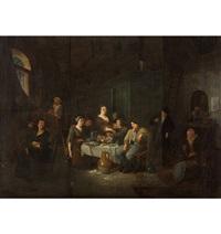 gesellige tischgesellschaft by egbert van heemskerck the younger
