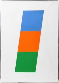 blue/red-orange/green by ellsworth kelly