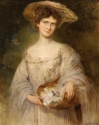 porträt einer dame by caspar ritter