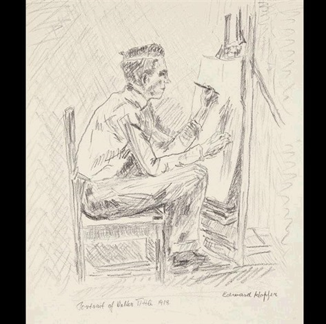 portrait of walter tittle the illustrator by edward hopper