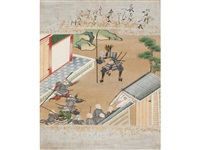 minamoto no yoshitsune and benkei (2 albums w/44 works) by anonymous-japanese (edo period)
