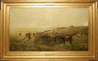 herd of cattle by françois lauret