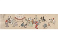 genre scenes by anonymous-japanese (edo period)