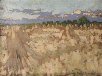 sketch of a cornfield by henry herbert la thangue