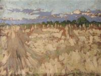 sketch of a cornfield by henry herbert la thangue