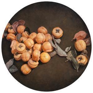 万柿祥和 persimmons by zhang dali
