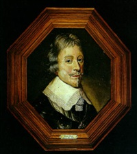 a portrait of a gentleman with a lace collar by paulus lesire