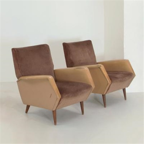 due poltrone 803 by gio ponti