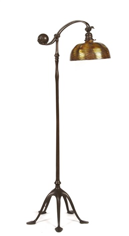 counter balance floor lamp by louis comfort tiffany