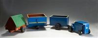 spielzeug-traktor 950 mit drei anhängern by ko verzuu