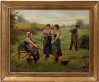 farming landscape by wilhelm giessel