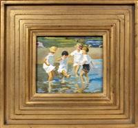 children in water by susan barse miller