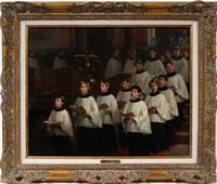 choir boys by william morris hunt