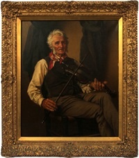 the old fiddler by john george brown