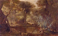 cattle in a stream by edwin deakin