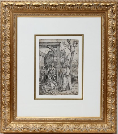 christ taking leave from his mother (from the life of the virgin) by albrecht dürer