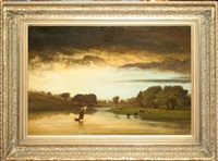 evening river by george waldo hill