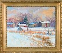 winter at farbotnik's farm by tatiana alexeeva