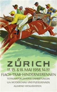 zürich flach-trab-hindernisrennen by herbert b. libiszewski