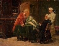 beim tuchhändler by benjamin eugène fichel