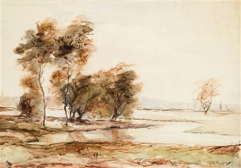 river and trees by john francis murphy